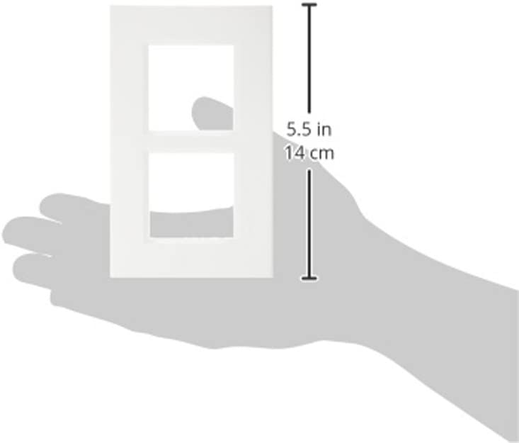 bticino 448148322/placa doble vertical