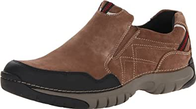 Clarks Men's Roebling Twin Slip-On,Brown Suede,8 W US