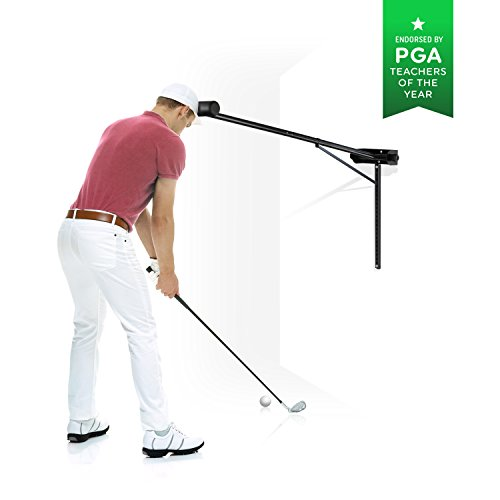 PRO-HEAD Golf Swing Trainer Golf Training Aid for All Golfers - Posture Correcting Tool (Mounted)