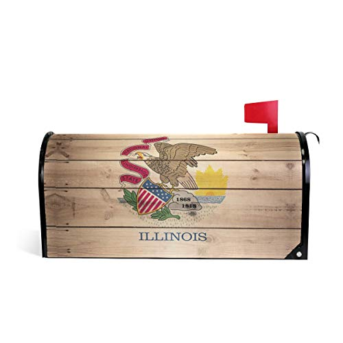 Illinois Flag Magnetic Mailbox Cover Wraps Letter Post