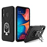 UNC Pro 2 in 1 Cell Phone Case w/Bottle Opener Kickstand for Samsung Galaxy A20 / A30 / A50, TPU Hybrid Shockproof Bumper Anti-Scratch Dual Layer Case, Black