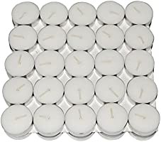 Nanki Trades Wax Tea Light Candle (White, Set of 50)