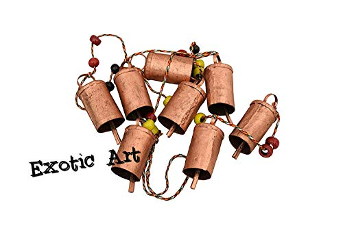Siddhivinayak Overseas Home Decorative Swiss Cow Bell Wall Hanging Copper Antique Finish Windchime
