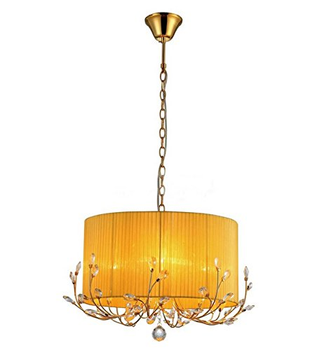 Whse of Tiffany RL7936-4OR Warehouse of Tiffany Hebe Yellow/Orange Crystal Chandelier