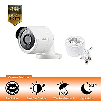 Samsung Wisenet SDC-89440BB - 4MP Weatherproof Bullet Camera, Compatible with SDH-C85100BF (Certified Refurbished) from Hanwha Techwin Co.