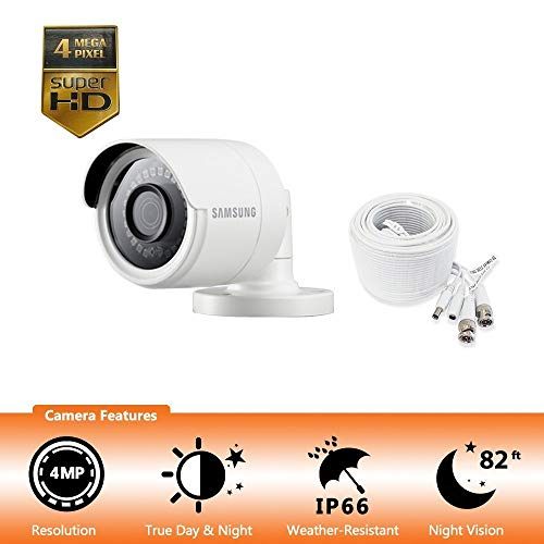 Samsung Wisenet SDC-89440BB – 4MP Weatherproof Bullet Camera, Compatible with SDH-C85100BF Renewed