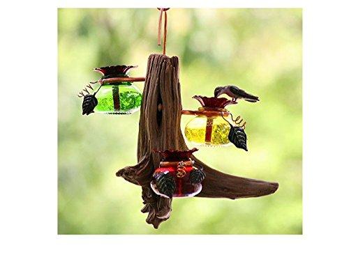 Perry's Hummingbird Feeder - Drifter Hanger - Brass Natural Feeder