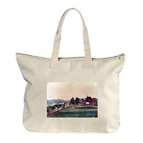 St John'S Church (Durer) Canvas Beach Zipper Tote Bag - John Center Shopping St