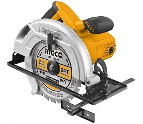 INGCO POWERTOOLS & HANDTOOLS 1200W Circular saw Blade diameter: 185x20mm With 1pcs 185mm blade With 1 set extra carbon brushes 1