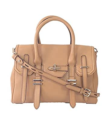 Rebecca Minkoff Mini Jules Satchel Crossbody, Almond