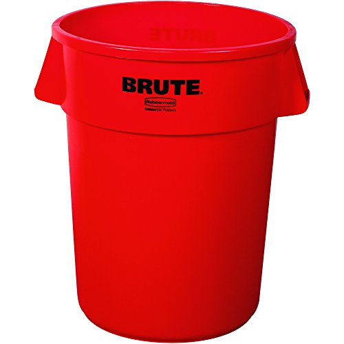 Brute RUB127C 55 Gallon Container, 26.5'' Height x 33 Length'' x 31 Width'', Red by Brute