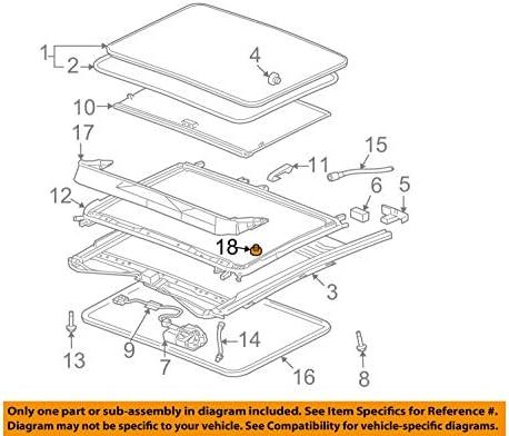 amazon com general motors gm oem sunroof water deflector retainer