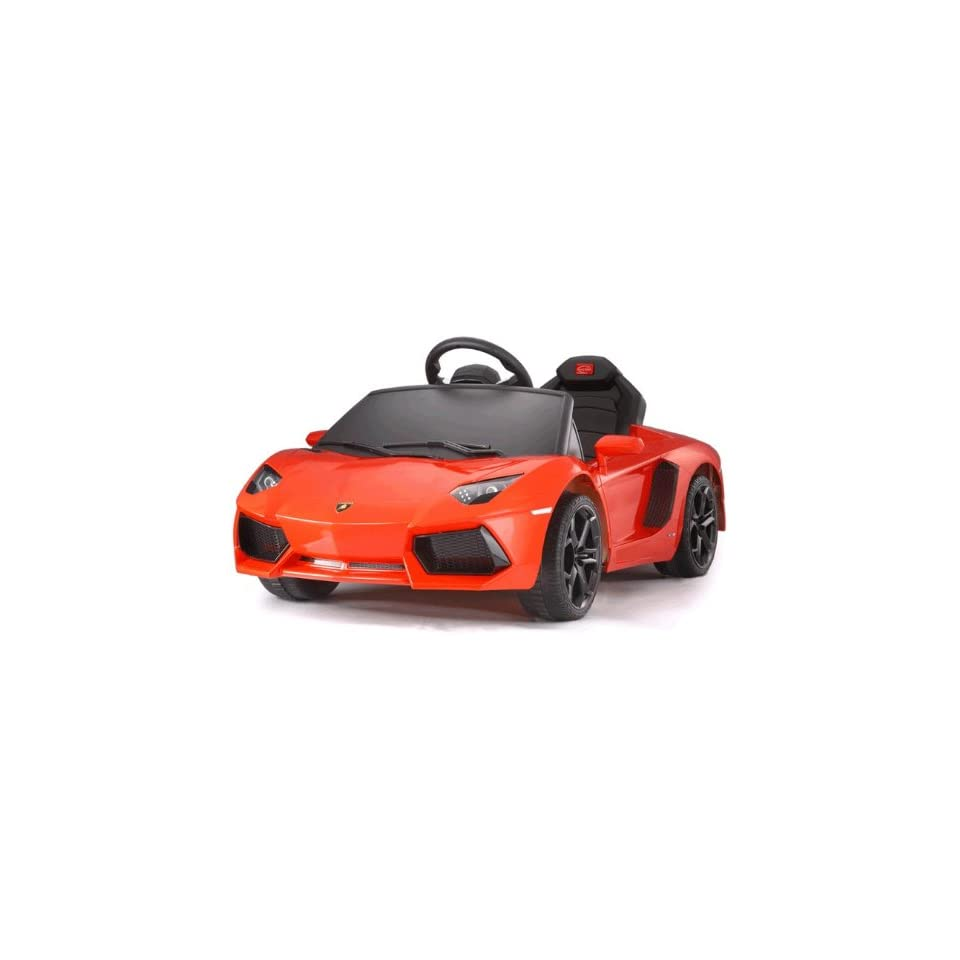 Lamborghini Aventador Battery Kids Ride On Car Electric Childrens Toy w/Remote Under Licensed Power Wheel With Key For Start Toys & Games