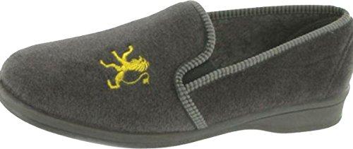 Diseño de Mirak Warminster-Frank de hombre de piel antideslizante-diseño de pesadilla antes de ping pong para interior de ante para patucos/gran comodidad y son zapatos de al aire libre gris - gris