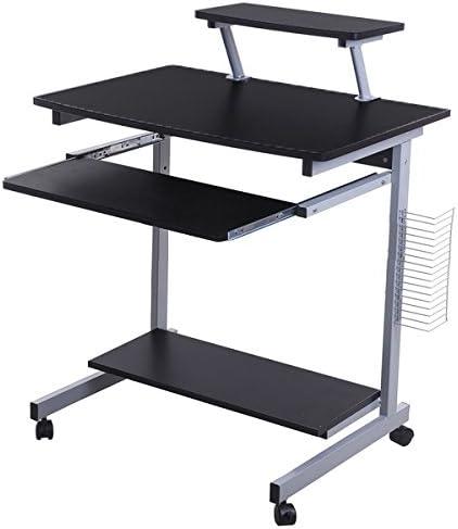 Lyndan - Takoma negro mesa de ordenador escritorio compacto para ...