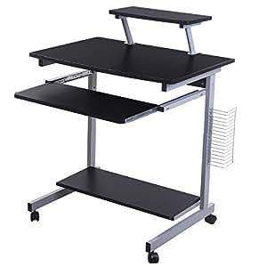 Lyndan takoma negro mesa de ordenador escritorio for Mesas de escritorio amazon