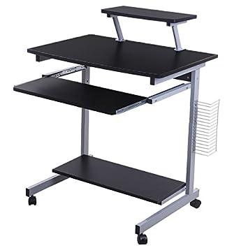 Lyndan  Takoma Table Informatique Compact Noir Bureau Meubles Pour