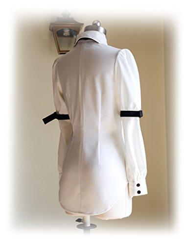 Fanplusfriend - Camisas - para mujer White + Black Jabot