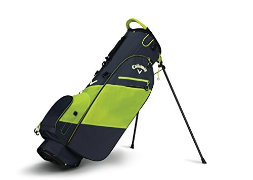 Neon Carbon Fiber Carbon - Callaway Golf 2018 Hyper Lite Zero Stand Bag, Titanium/ Neon Yellow/ White, Double Strap