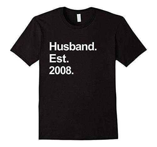 Mens 10th Wedding Anniversary Gifts - Husband Est 2008 (Wedding Anniversary Present)