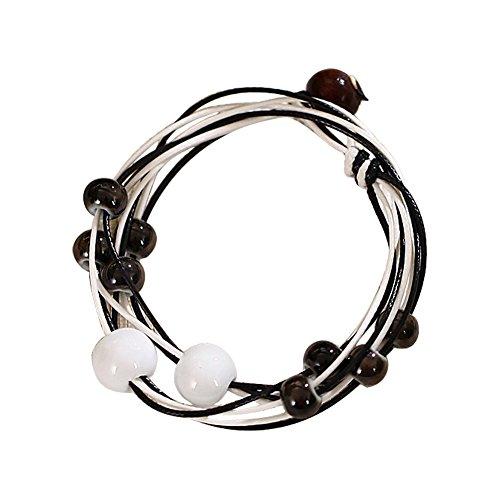Iminibox 5pcs Natural Amethyst Tiger Eye Reiki Healing Pendulum Stone Drop Pendant Unisex Gift