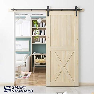 T Shape Sliding Barn Door Hardware 5FT,6.6FT,with Barn Door