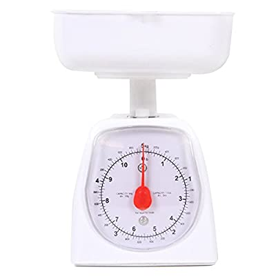 hand2mind Dual-Dial Analog Platform Scale - Simple Enough for Kids and Great with Kitchen Food