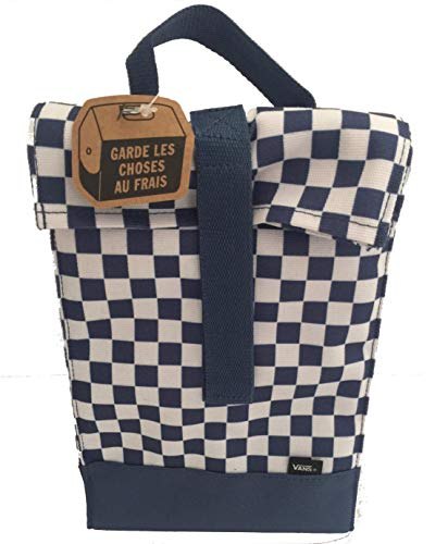 Vans blue checkerboard lunch box insulated sack reusable lunch bag (Insulated Van)