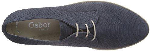 Gabor Gabor Comfort - Zapatos de cordones derby Mujer Blau (36 nightblue (S.weiss))
