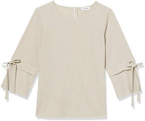 Calvin Klein Women`s Long Sleeve Tie Blouse