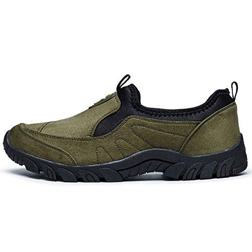 in da con Piatto Moda Scarpe Unita Verde Ginnastica Sneaker da Cricket comode Tacco da Uomo Tinta Casual Slip Scarpe xnSqaz1