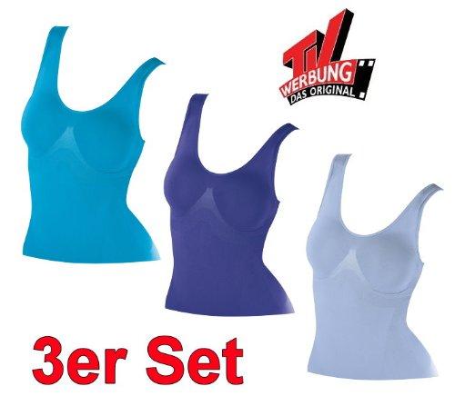 3x Figur Body Traum Top Gr. XXL Taillenformer Bauch weg Unterhemd  Bauchformer ad423d4e5a