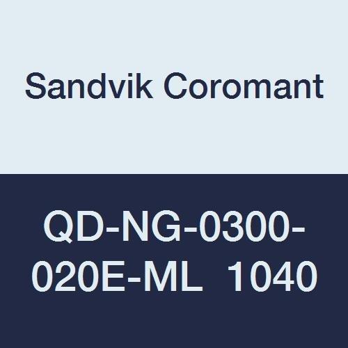 Carbide Neutral Cut 1040 Grade, N QD-NG-0300-020E-ML 1040 Ti,Al CoroMill QD Insert for Grooving Sandvik Coromant