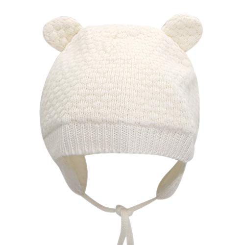 9524c8d262e IMLECK Baby Soft Warm Fall Winter Knit Wool Hat Cute Bear Toddler Beanie Hat  with Ear Flap