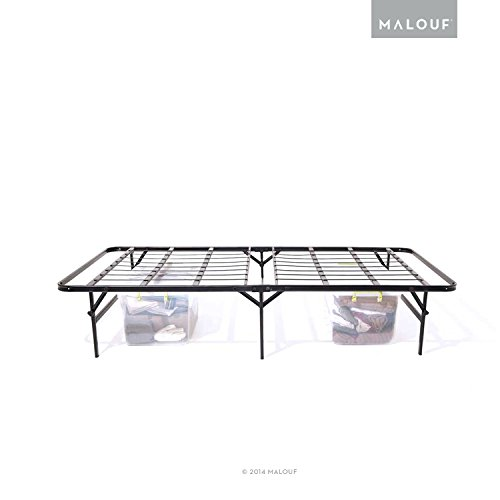 STRUCTURES Foldable Bed Base - Platform Bed Frame and Box Spring in One - Quick, Easy Setup - Twin XL