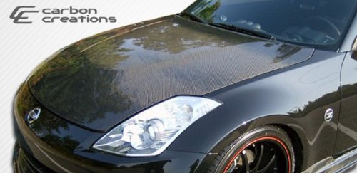 2007-2008 Nissan 350Z Carbon Creations OEM style Hood - 1 Piece ()