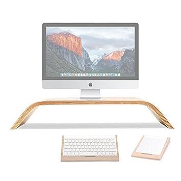 tansyshop Natural madera estante - Soporte de refrigeración para Mac Book Air, Mac Book Pro, iMac, ordenador portátil soporte ordenador soporte de ...