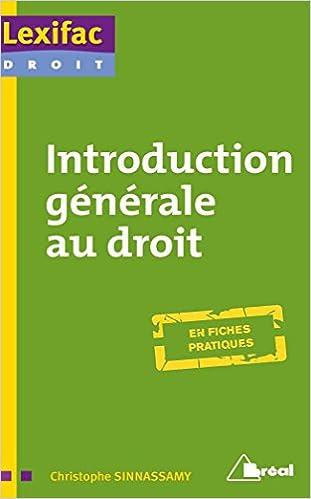 Introduction générale au droit pdf, epub ebook