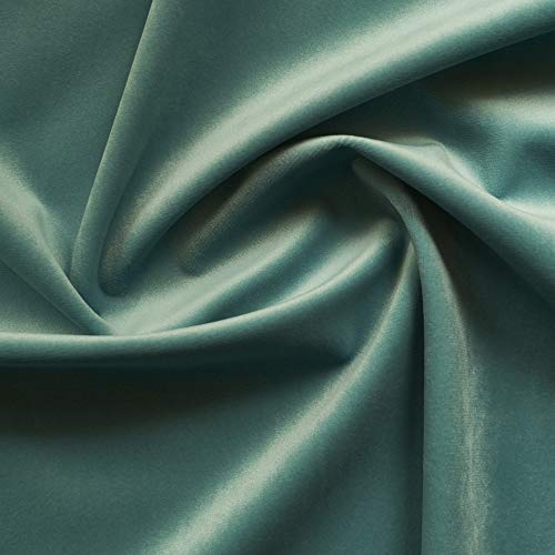 - Solid Drapery/Upholstery Soft Velvet Fabric Color Turquoise by The Yard