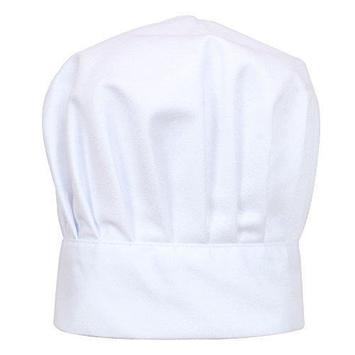 2 Pc-White kids'chef apron and hat set for cooking,baking,painting or decorating party (1-3Years) by MULAN (Image #3)