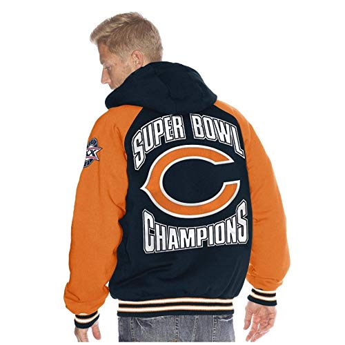 G-III Sports Chicago Bears Sideline Super Bowl Commemorative Fleece Jacket (Medium)