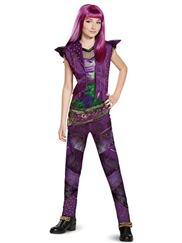 Disney Mal Deluxe Descendants 2 Costume, Purple, Medium