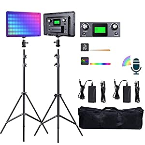 Flashandfocus.com 41%2BAsmdbR0L._SS300_ RGB LED Video Light, SAMTIAN Sound Controlled Photography Lighting 18 Lighting Scenes 2800K-9900K Dimmable with LCD…