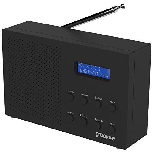 Groov-e Paris Portable DAB/FM Digital Radio - Black by groov-e