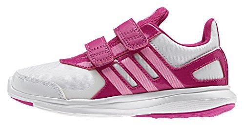 adidas Hyperfast 2.0 CF K, Zapatillas de Running Unisex Bebé Blanco / Rosa (Ftwbla / Sebrro / Eqtros)