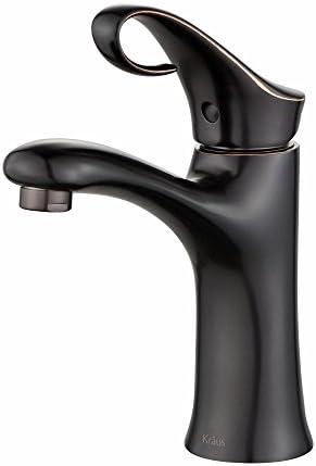 Kraus FUS-13101ORB Cirrus Single Lever Basin Bathroom Faucet, Oil Rubbed Bronze