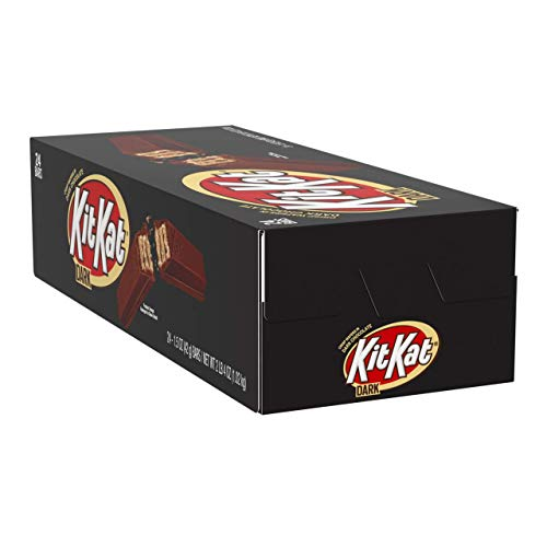 KIT KAT Dark Chocolate Candy Bar, Halloween Candy, 1.5 Ounce (Pack of 24)