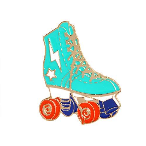 TOOGOO Cartoon Skates Brooch Metal Pins Jacket Backpack Collar Lapel Pin Badge Jewelry Gift for Girls Boys Green