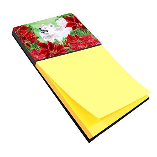 Samoyed Note (Caroline's Treasures Samoyed Poinsettas Sticky Note Holder, Multicolor (CK1339SN))