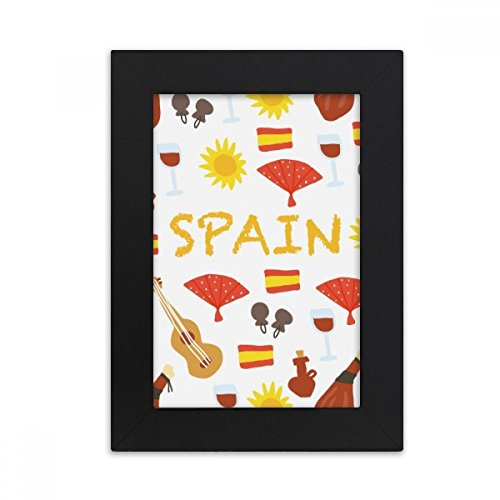 DIYthinker Spain Flamenco Music Food Desktop Photo Frame Picture Black Art Painting 5x7 inch by DIYthinker